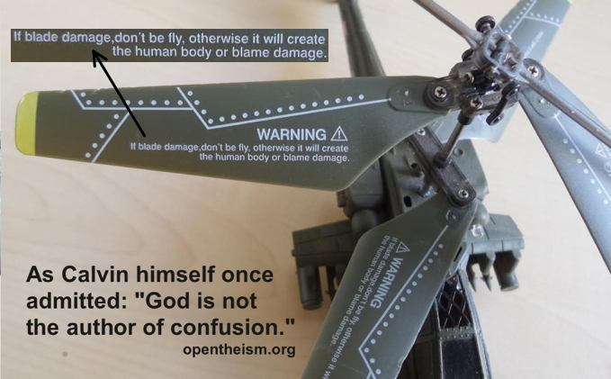 Can a toy falsify a theology? God is not the author of confusion, so did not decree this toy!